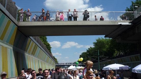 Brückenschlag für ein autofreies Ruhrgebiet.