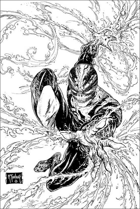 """Haunt, der neue Comic-Held aus der McFarlane-Factory erinnert an """"Spiderman"""" und an """"Spawn"""". Copyright by Todd-McFarlane Productions Inc. und Panini-Verlag."""