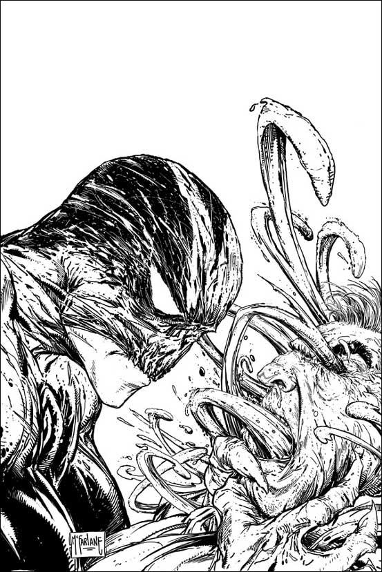 """Splatterelemente prägen """"Haunt"""", die Serie geht damit noch etwas weiter als """"Spawn"""". Die Farben und die Umgebung wirken düster und bedrohlich und verstärken den Eindruck, der schon """"Spawn"""" als Antihelden erfolgreich gemacht hat. (Copyright by Todd-McFarlane Productions Inc. und Panini-Verlag.)"""