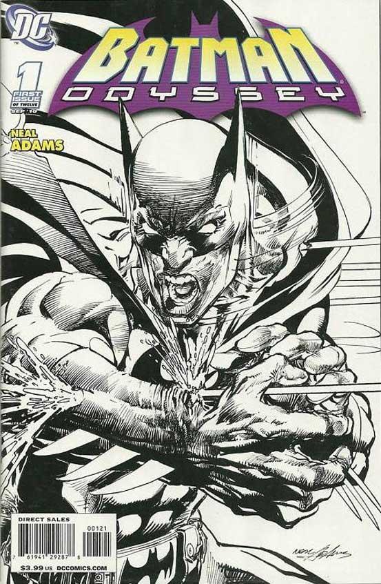 """Neal Adams, der Comic-Zeichner, der wie kein anderer dramatisch zeichnet, legt mit """"Batman: Odyssey"""" nach langer Zeit wieder mal eine Heftserie für eine Major-Company vor."""