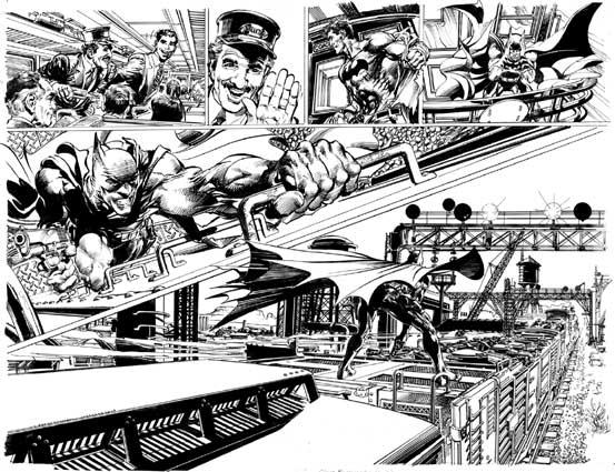 """Neal Adams war früher bekannt für aufregende Doppelseitenaufteilungen. Zwischendurch war diese Eigenschaft etwas eingeschlafen. Bei """"Batman Odyssey"""" aktiviert er sie wieder."""