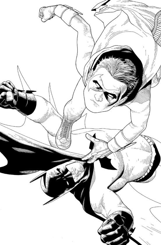 Andy Clarke's Batman-Version fängt technisch perfekt umgesetzt die Figuren wie eine Momentaufnahme ein.
