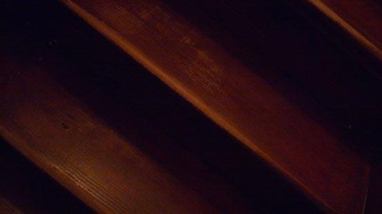 Treppenstufen zum Spinnenmann