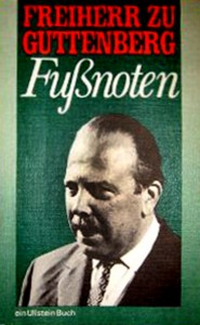 """Klingt wie ein Witz: Zu Guttenberg hat ein Buch mit dem Titel """"Fußnoten"""" geschrieben"""