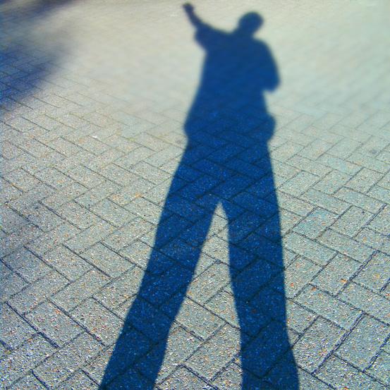 Schatten auf der Straße