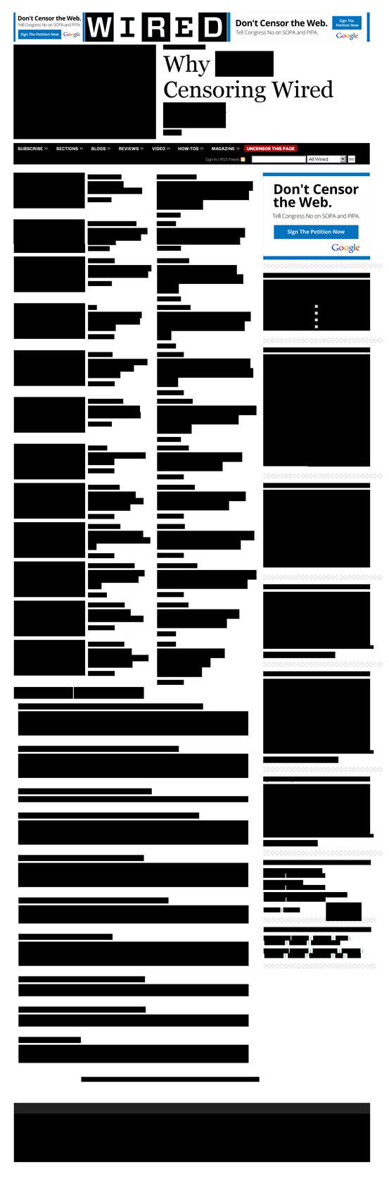 Blackout: Die Zeitschrift Wired hat sich selbst zensiert