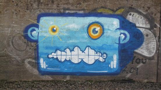 Ein StreetArt-Gesicht.