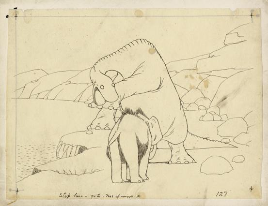 """""""Gertie the dinosaur"""", einer der ersten Trickfilme."""