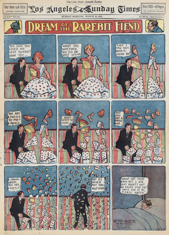 "Neben ""Little Nemo in Slumberland"" war ""Dream of the Rarebit Fiend"" eines der bekanntesten Comics von Winsor McCay."