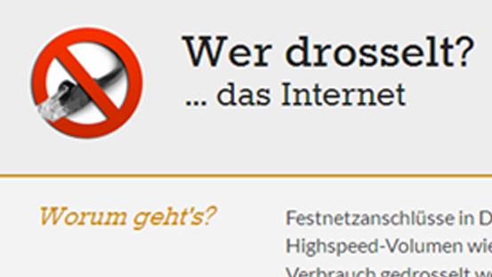 Die DEutsche Telekom drosselt ihre DSL-Geschwindigkeit ab 75 GB.