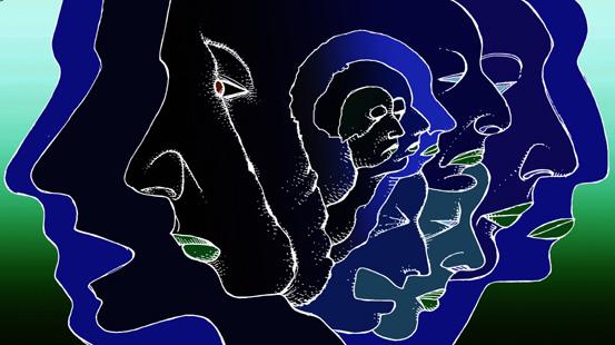 Gesichtsfarbe Blau