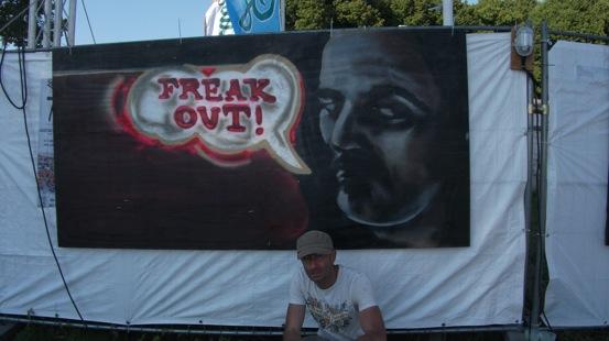 Frank Zappa Banner auf der Zappanale