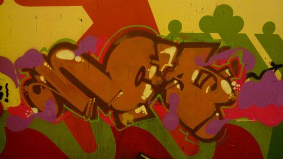 In der Kürze liegt die Würze: Stadtmalerei im Untergrund.