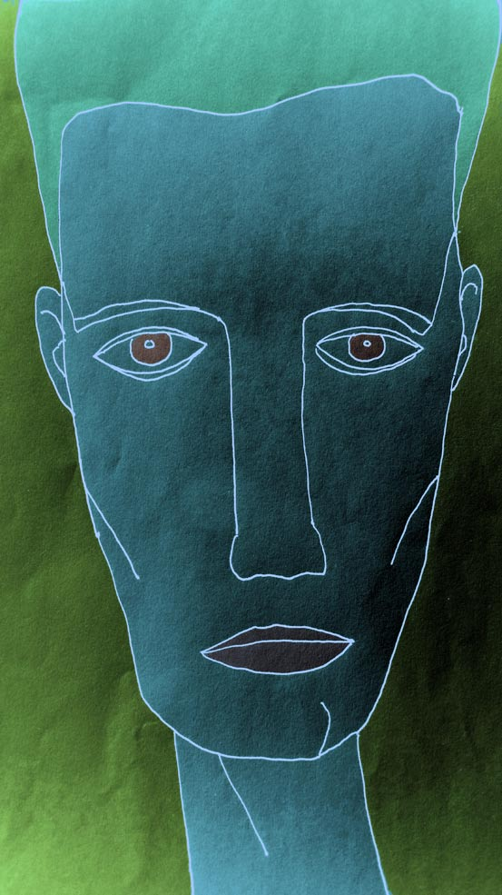 Ein negatives Gesicht.