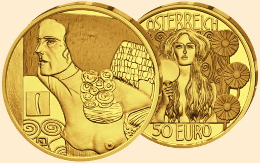 Klimt als Münze