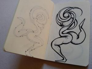 Kunsttagebuch: Warum die Größe einer Zeichnung ihre Aussage verändert