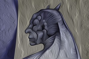 Stoned Batman just looking surrealistic