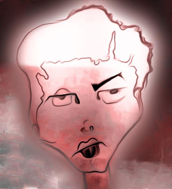 Gesicht mit Synchron-Falten