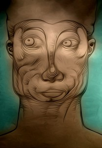 Gesichtsverdrehung